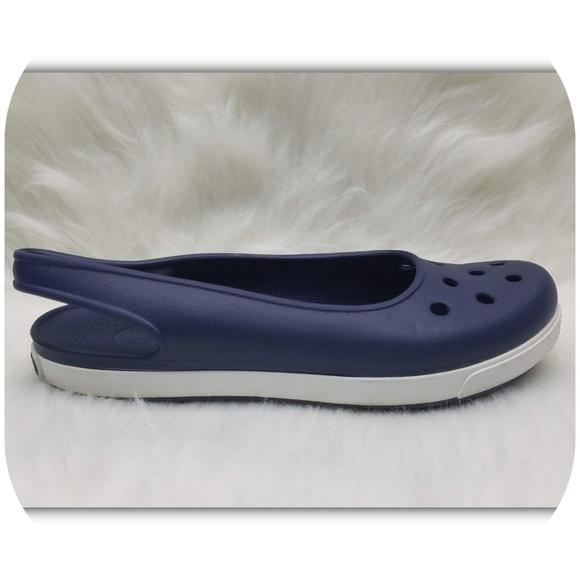 CROCS Shoes   Crocs Navy Blue Slingback